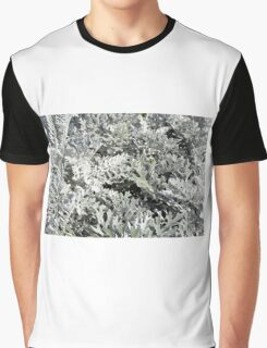 Light green leaves pattern. Graphic T-Shirt