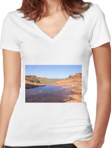 Kings Canyon Overflow Women's Fitted V-Neck T-Shirt