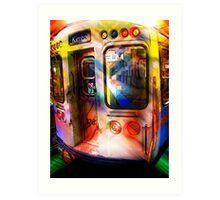 kimball train, brown line, chicago Art Print