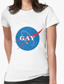 space gay Womens Fitted T-Shirt