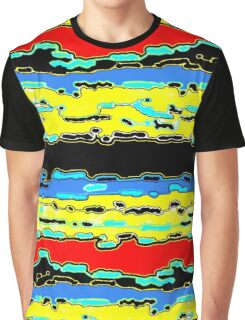 Bush Ants Abstract Digital Var 16 solid background Graphic T-Shirt