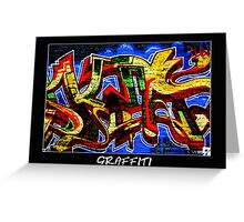 Graffiti 17 Labeled Greeting Card