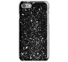 abstract graffiti splatter in white on black iPhone Case/Skin