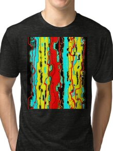 Bush Ants Abstract Digital Var 18 Further Abstracted Tri-blend T-Shirt