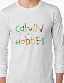 calvin and hobbes font Long Sleeve T-Shirt