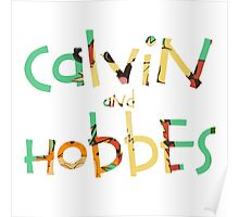 calvin and hobbes font Poster