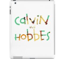 calvin and hobbes font iPad Case/Skin