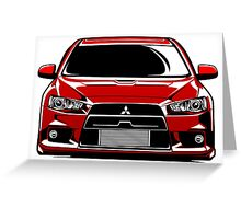 LANCER EVO X Greeting Card