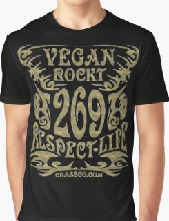 VEGAN ROCKT - veggie, vegetarian, meatless, life Graphic T-Shirt