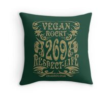 VEGAN ROCKT - veggie, vegetarian, meatless, life Throw Pillow