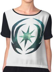 Vallite Emblem Galaxy Women's Chiffon Top