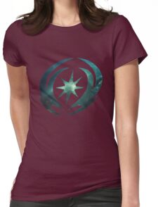 Vallite Emblem Galaxy Womens Fitted T-Shirt