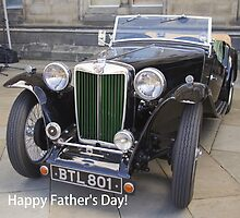 Happy Father's Day!  Vintage MG by Sandra Cockayne