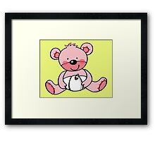 baby pink teddy bear Framed Print