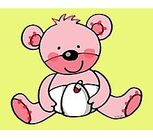 baby pink teddy bear Photographic Print