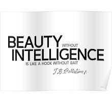 beauty and intelligence - moliere Poster