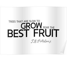 grow best fruit - moliere Poster