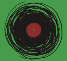 Spinning within with a vinyl record... Kids Tee