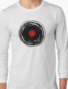 Spinning within with a vinyl record... Long Sleeve T-Shirt