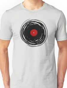 Spinning within with a vinyl record... Unisex T-Shirt