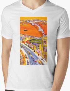 Summer sunset Mens V-Neck T-Shirt