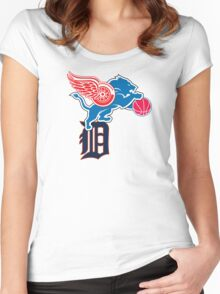 Detroit Sports Love Women's Fitted Scoop T-Shirt