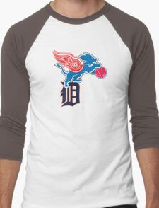 Detroit Sports Love Men's Baseball ¾ T-Shirt