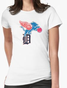 Detroit Sports Love Womens Fitted T-Shirt