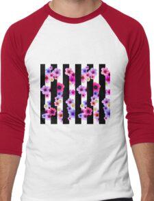 Flowers and Stripes 2 Men's Baseball ¾ T-Shirt