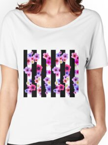 Flowers and Stripes 2 Women's Relaxed Fit T-Shirt