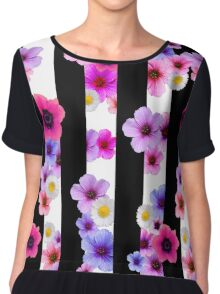 Flowers and Stripes 2 Chiffon Top