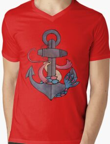 Milotic & Anchor Mens V-Neck T-Shirt