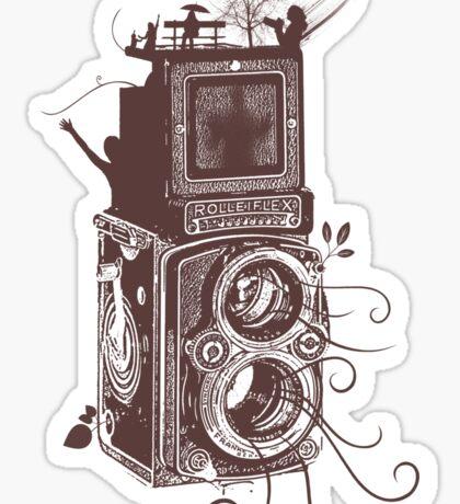 Retro Rolleiflex - Evolution of Photography - Vintage #2 Sticker