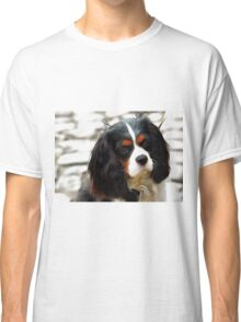 Portrait Of A King Charles Cavalier Spaniel Classic T-Shirt