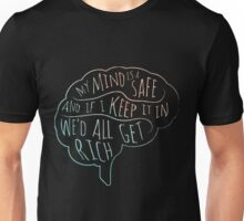 my mind is a safe Unisex T-Shirt