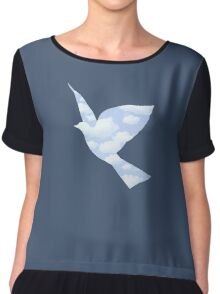 In the style of Magritte Chiffon Top
