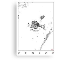 Venice Map Schwarzplan Only Buildings Urban Plan Canvas Print