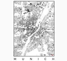Munich Map Schwarzplan Only Buildings Urban Plan Unisex T-Shirt