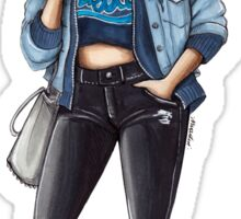 Aqua Girl Sticker