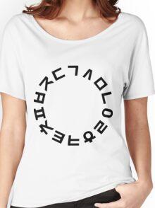 Korean Alphabet Hangul Consonants Women's Relaxed Fit T-Shirt