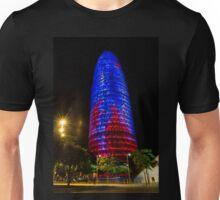 Nocturnal Illumination - Torre Agbar Barcelona Soft Golden Glow Unisex T-Shirt