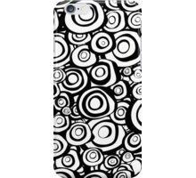 concentric circles in black and white iPhone Case/Skin