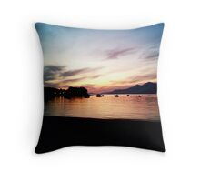quiet sunset Throw Pillow