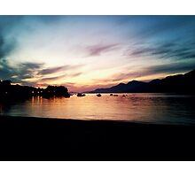 quiet sunset Photographic Print