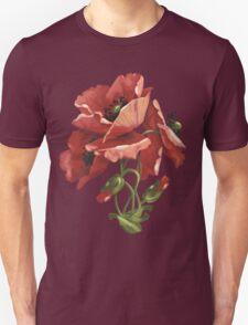 Poppy flowers - acrylic painting Unisex T-Shirt
