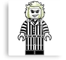 Beetlejuice Lego Metal Print
