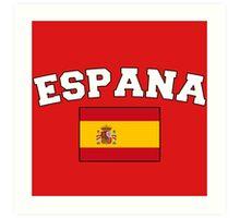 Espana Spain Supporters Art Print