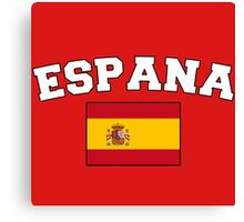 Espana Spain Supporters Canvas Print