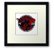 Spider Man - Peter Parker's School of Parkour Framed Print
