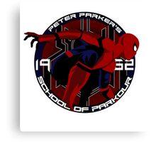 Spider Man - Peter Parker's School of Parkour Canvas Print